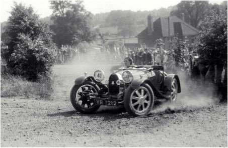 Bugatti on Chalfont Hill Climb